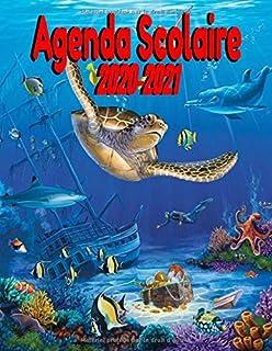 Agenda scolaire 2020-2021 belle couverture océanique: Agenda Scolaire Journalier| Collège Lycée École Primaire Étudiant