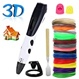 Pluma de impresión 3D,PullPritt 3D Pluma Inteligente Pen con pantalla LCD 1.75mm consumibles de PLA ABS para Niños y Adultos