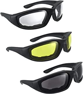 HiSurprise 3 Pair Motorcycle Riding Glasses Smoke Clear...