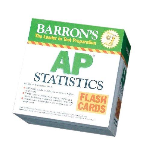 Barrons Ap Statistics Flash Cards Barrons The Leader In Test Preparation