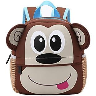 Yeelan Waterproof School Bag/Backpack for Kids (monkey):Shizuku7148