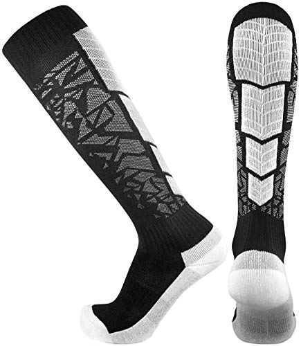 Elite Performance Athletic Socks - Over The Calf (Large, Black)