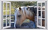 DesFoli Pferd Horse 3D Look Wandtattoo 70 x 115 cm