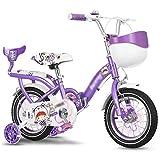 Bicicletas For Niños Plegables For Niñas Hermosas Estudiante For Niños 2-4-8 Años De Edad Regalos For Los Niños (Color : Purple, Size : 12 Inches)