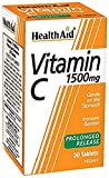 HealthAid Vitamin C 1500mg - Prolong Release - 30 Vegan Tablets