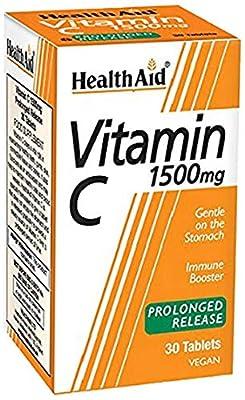HealthAid Vitamin C 1500mg - Prolong Release - 30 Vegan Tablets