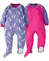GERBER Girls' 2-Pack Blanket Sleeper, Llama, 5T
