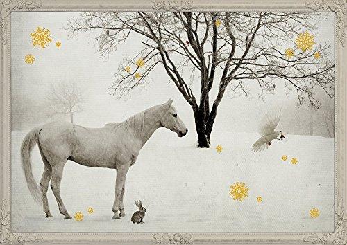Wand-Adventskalender - Pferd in Schneelandschaft