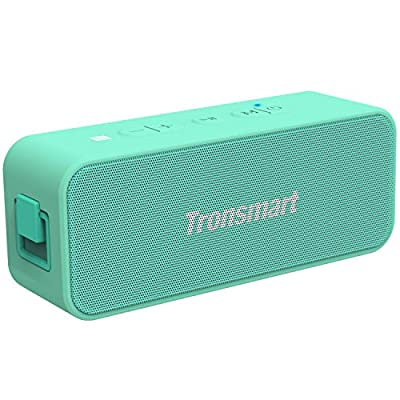 Waterproof Bluetooth speaker, Tronsmart T2 PLUS Portable Speaker with 24 Hours Playtime, IPX7 Waterproof Wireless Bluetooth 5.0 Speaker with TWS, Voice Assistant, Built-In Mic for Phone Outdoor-GREEN from Tronsmart