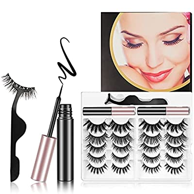 Amazon - 70% Off on Magnetic Eyelashes with Eyeliner Kit, 10 Pairs Magnetic Natural Looking