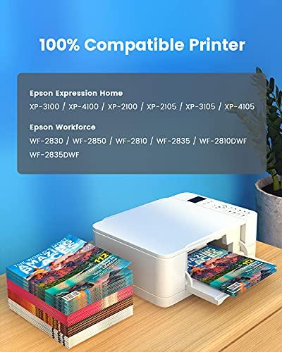 PACITEK Cartuchos de Tinta 603XL Paquete de 5 repuestos para Cartuchos de Tinta Epson 603 Paquete múltiple para Epson Expression Home XP-2100 XP-4100 XP-4105 Workforce