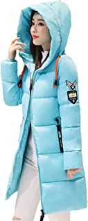 Women Winter Down Long Coat Hoodie Thicken Coat Long Sleeve Cotton Outerwear