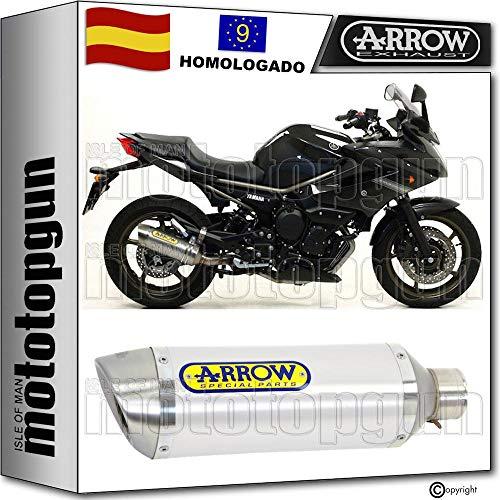 ARROW TUBO DE ESCAPE HOMOLOGADO THUNDER CON FONDO INOX EN ALUMINIO COMPATIBLE CON YAMAHA XJ6 DIVERSION 2009 09 71761AO
