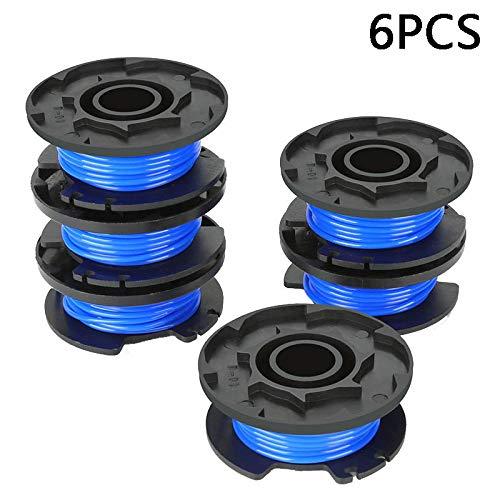 Abilie Lot de 1/6 bobines de fil à alimentation automatique pour débroussailleuse Ryobi 18 V 24 V 40 V, 6 pièces