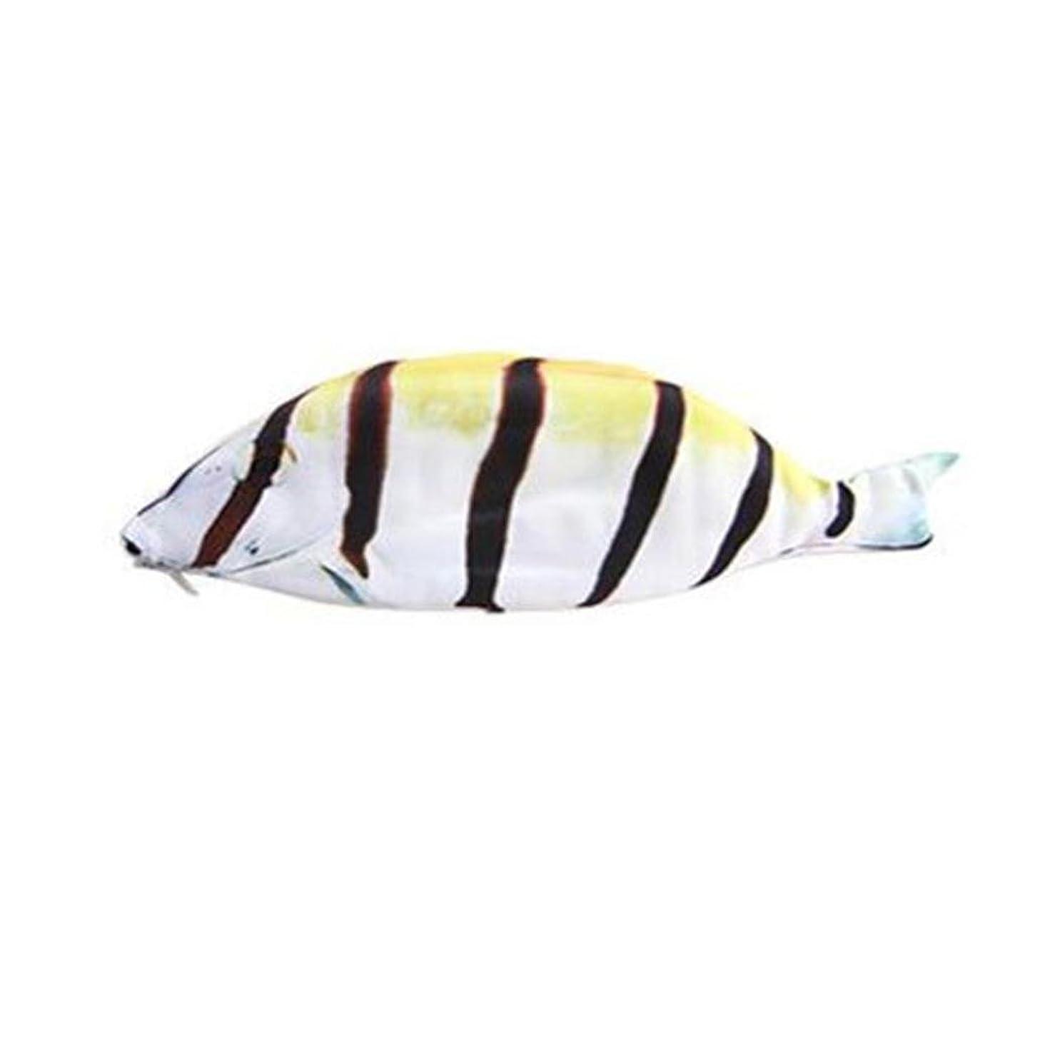 最も先行するラグYeefant 2018 新発売 3Dプリント 魚の世界 ペンケース 高級感満々! とってもユニークな魚型 小物収納 筆入 超人気 筆箱 シンプル タイプ ペンボックス 大容量なので余裕の収納力 おしゃれ 超徳用 ペンポーチ 4色を選べる (イエロー)