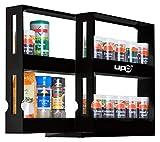 UPP Gewürzregal ausziehbar I Praktisches Schrank Ordnungssystem sorgt für Ordnung in Bad und Küche I Ausziehbares Nischenregal als Schrankeinsatz oder direkt auf die Arbeitsplatte [Schwarz]