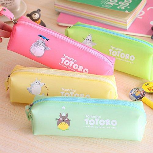 Estuche escolar de Totoro, ideal como neceser para maquillaje o como monedero