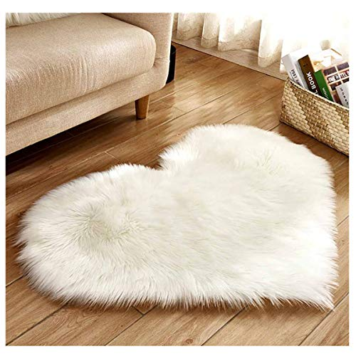 Heart Faux Fur Area Rug $6.00 (80% OFF Coupon)