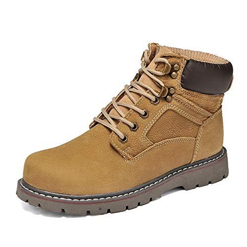 N/P Herren Schuhe Winterstiefel Herren Retro Style Echtes Leder wasserdichte Taktische Schuhe Atmungsaktive Herren Martin Stiefel