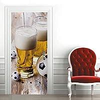 ドアステッカー 90 x 200 cm 家の装飾壁画壁画デカールリビングルーム取り外し可能な粘着ステッカー-ビール