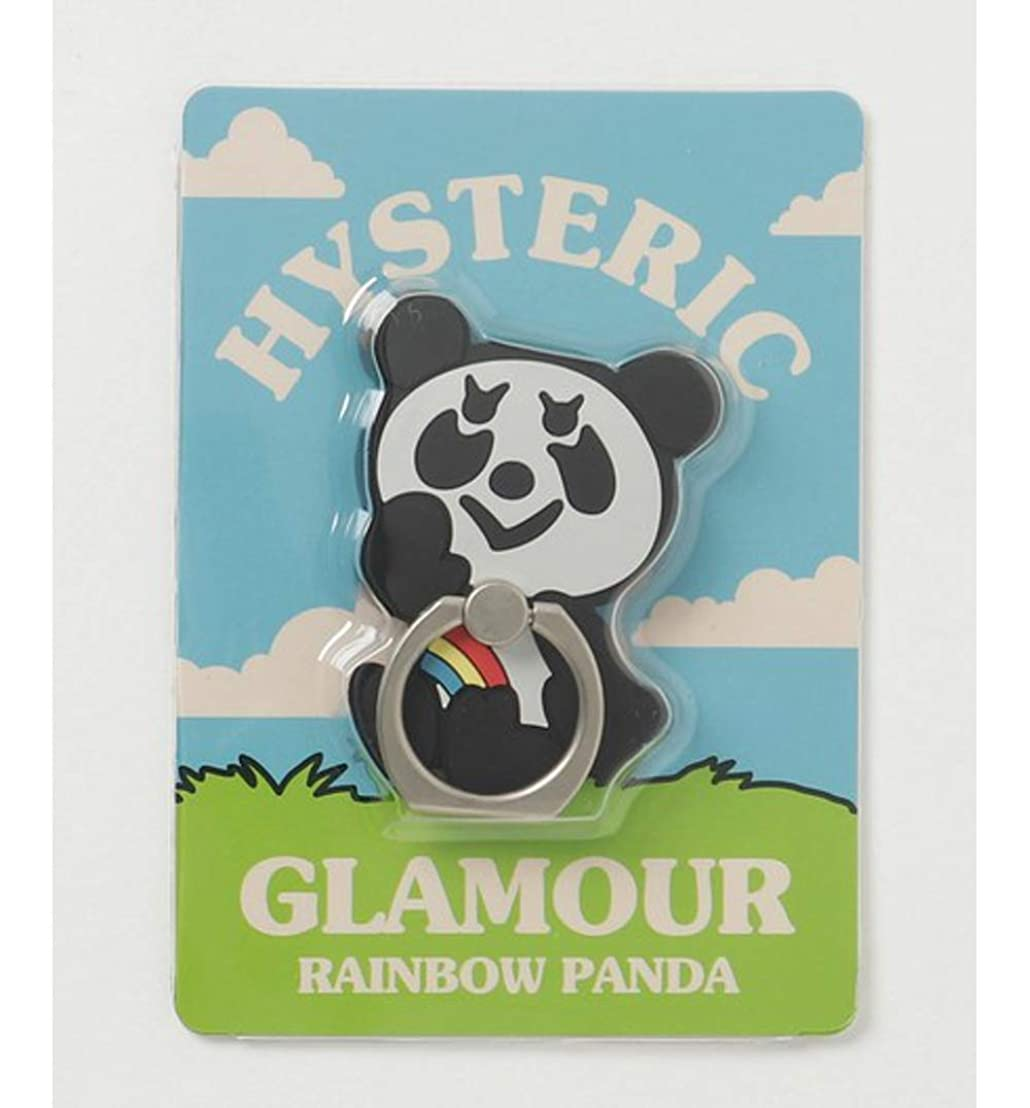 フラフープ家畜志す(ヒステリックグラマー)HYSTERIC GLAMOUR LADIES RAINBOW PANDA スマホリング WHITE size FREE