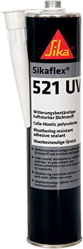 Sikaflex 521 UV, Colle-mastic pour joints d'étanchéité multi-supports, 300ml, Noir