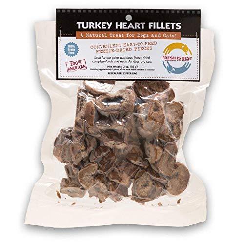 Fresh Is Best Turquía liofilizado cree corazón golosinas para perros y...