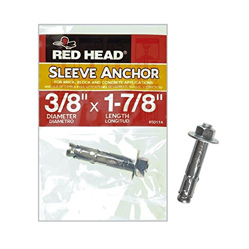 Read About ITW 50114 Red Head Sleeve Concrete Anchor 3/8 in. x 1-7/8 in. Hex, 1-per Pack