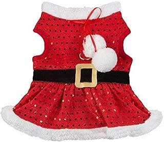 Friends Forever Holiday Santa Hat Hoodie Sweater Costume Jacket Coat Christmas Reindeer Apparel for Pet Dog Cat