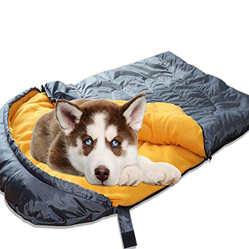 Lifeunion Dog Sleeping Bag Waterproof Warm Packable Dog Bed for Travel Camping Hiking Backpacking (Grey+Orange)