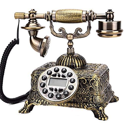 YUBIN Teléfono oficina teléfono fijo estilo europeo retro teléfono sala de estar hogar antiguo antiguo teléfono adornos