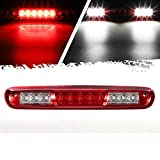 Partsam High Mount Stop Light Led Third 3rd Brake Light Replacement for Silverado and Sierra 1500 2500 HD 3500 HD 2007 to 2013 Rear Cab Roof Center Mount Stop Brake Tail Light Cargo Lamp (Red Lens)