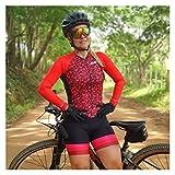 LYYJIAJU Ciclismo Skinsuit Suit Ciclismo Suit da donna, in jersey in bicicletta, set da ciclismo, abiti da donna triathlon (Color : A, Size : L)