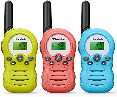 Sorulykin Walkie Talkies for Kids 3 Pack 22 Channel Up to 3300 Meters Range Handheld Interphone product image