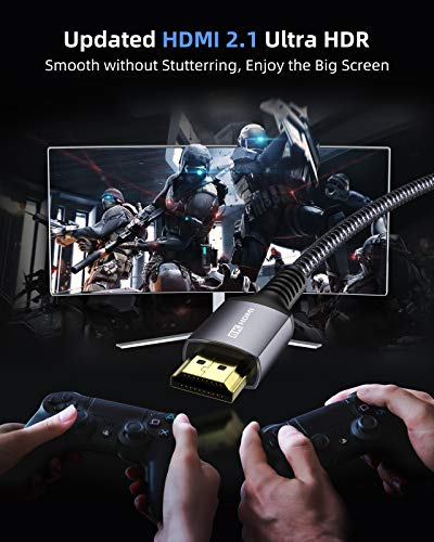 8K HDMI 2.1 Kabel 1.8m,Stouchi Ultra HD 48 Gbit/s Hochgeschwindigkeit 8K60 4K120 144Hz RTX 3080 eARC HDR10 4: 4: 4 HDCP 2.2&2.3 Dolby Kompatibel mit Blu Ray,PS5,Xbox Serie X Samsung Sony LG RTX 3080