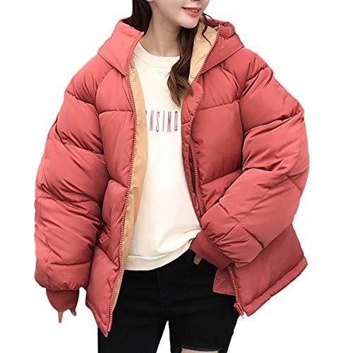 KEERADS Damen Mäntel Steppjacke Frauen Winter Warme Oberbekleidung Kapuzenmantel Baumwolle Gepolsterte Jacke Jacken