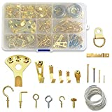 DSMY 270 pcs Picture Hangers kit, Picture Hangers, Photo Frame Hooks, Nails for Hanging Pictures, Heavy Duty Wall Hooks - 14 Models