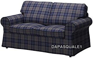 IKEA EKTORP - Slipcover for Loveseat 2-Seat Sofa Rutna Multicolor NEW (Cover Only)