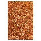 Sizzix Carpeta de repujado Textured Impressions 3D, 664405, Mandala floral de Kath Breen, Talla única