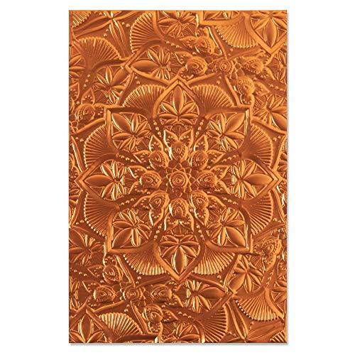 Sizzix Folder Floral Cartella da embossing 3-D Textured Impressions 664405 Mandala Floreale by Kath Breen, Taglia unica