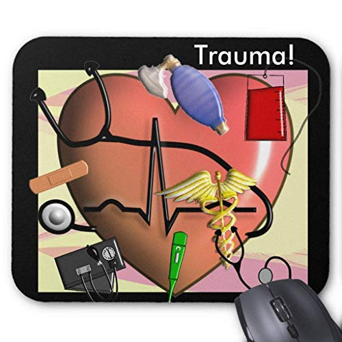 Whecom Gaming Mauspad Schwarz, Trauma Nurse Art Gifts Mouse Pad 18