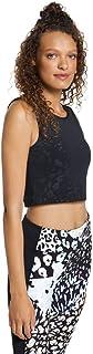 Rockwear Activewear Women's Urban Jungle Crop Top Jungle Black 8 from Size 4-18 for Singlets Tops