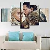 YFTNIPL 5 Leinwand Druck Kunst Poster Daenerys Targaryen