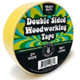 Double Stick Tape for Woodworking - 2 inch Wide Wood Tape Double Sided for Woodworkers - 90FT x 2'