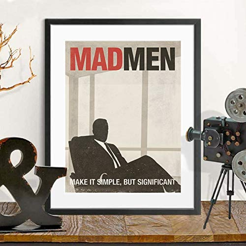 Pintura decorativa en lienzo Cartel de programa de televisión Mad Men Mad Men arte clásico lienzo pintura impresa cuadro de pared Mad Men Fan regalos decoración del arte de la pared del hogar-50x70cm