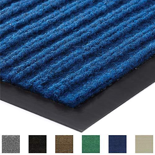 Gorilla Grip Original Low Profile Rubber Door Mat 47x35 Heavy Duty Durable Doormat for Indoor and Outdoor Waterproof Easy Clean Home Rug Mats for Entry Patio High Traffic Blue