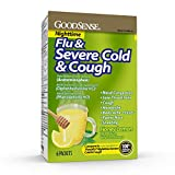 Good Sense Nighttime Severe Cold, Cough & Flu, Temporarily Relieves Nasal Congestion, Cough, Runny Nose, Sneezing, Body Ache, Sore Throat Pain, Headache, Fever, Honey Lemon, 6 Count