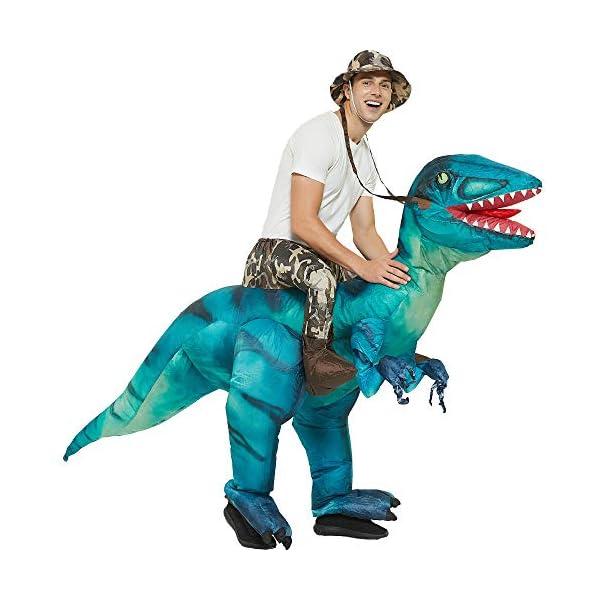 Inflatable Dinosaur Rider Costume Halloween Inflatable Costumes,T-Rex, Velociraptor,...