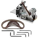 Lijadora de banda de banco, CA 110-240V, 4500-9000 RPM, Mini lijadora de banda, Mini lijadora eléctrica de banda para afilar cuchillos para afilar
