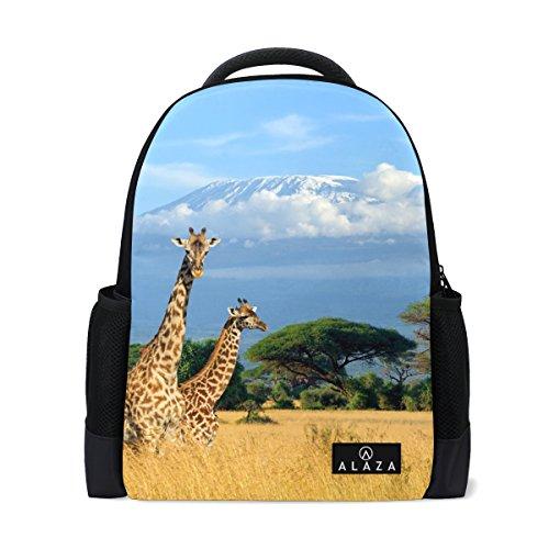 My Daily afrikanischen Giraffe Kilimanjaro Halterung Rucksack 35,6cm Laptop Daypack Schultasche für Reisen College Schule